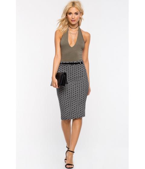Imbracaminte Femei CheapChic Geo Belted Pencil Skirt BlackWhite Prt