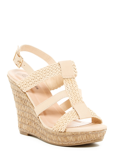 Incaltaminte Femei Top Guy Potato Woven Wedge Sandal BEIGE