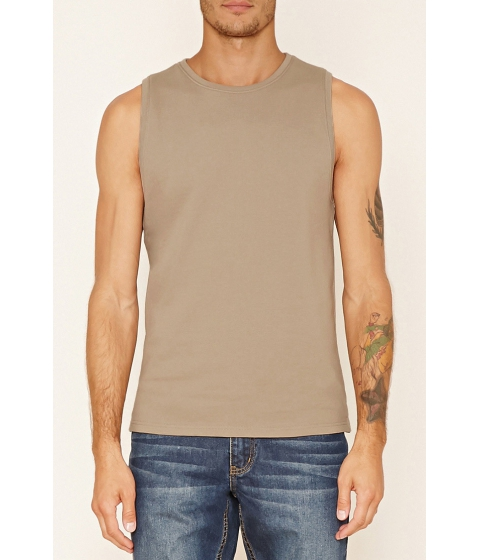 Imbracaminte Barbati Forever21 French Terry Muscle Tee Taupe