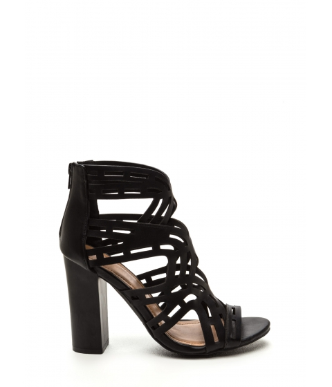 Incaltaminte Femei CheapChic Special Treatment Caged Heels Black