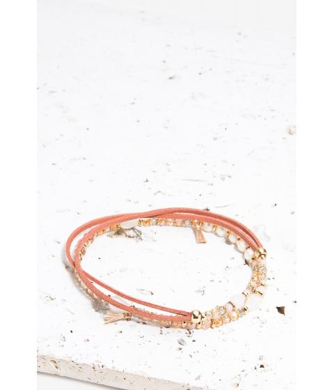 Bijuterii Femei CheapChic Multi Wrap Suede Mix Bracelet FuchsiaPink Ptrn