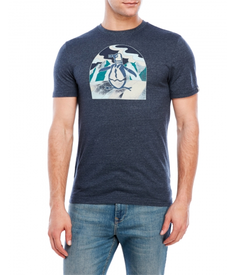 Imbracaminte Barbati Original Penguin Stained Glass Pete Tee Dark Sapphire