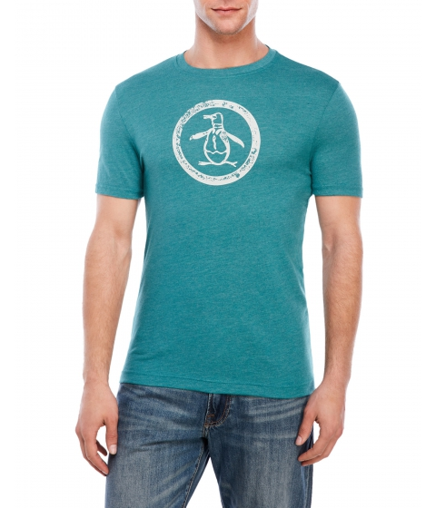 Imbracaminte Barbati Original Penguin Tri-Blend Distressed Circle Logo Tee Storm