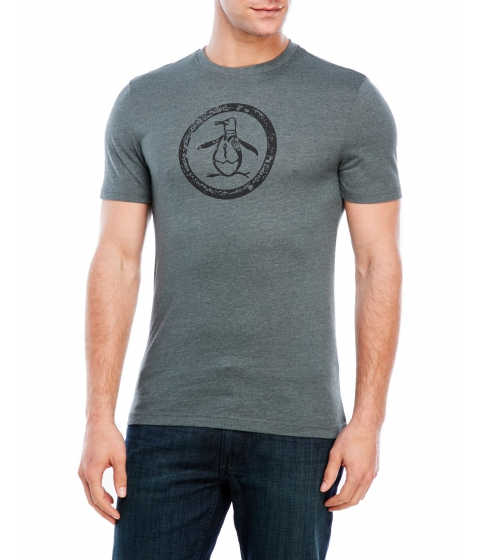 Imbracaminte Barbati Original Penguin Tri-Blend Distressed Circle Logo Tee Urban Chic