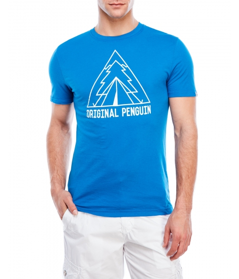 Imbracaminte Barbati Original Penguin Outdoorsy Outline Tee Snorkel Blue