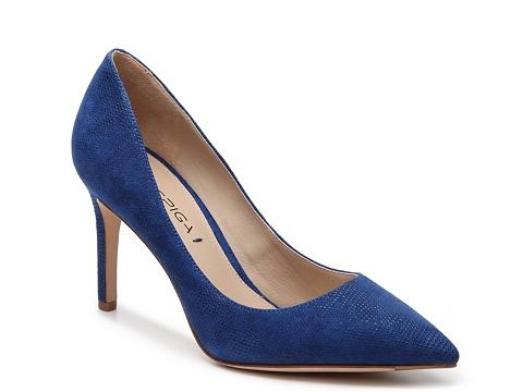 Incaltaminte Femei Via Spiga Carola Textured Suede Pump Blue