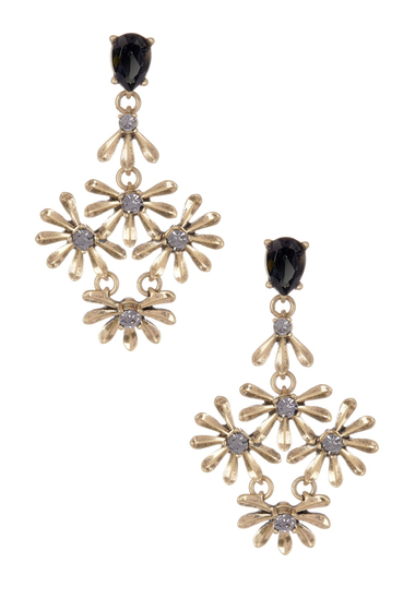 Bijuterii Femei BAUBLEBAR Goldenrod Drop Earrings GREY-ANTIQUE GOLD