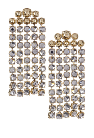Bijuterii Femei BAUBLEBAR Temptation Drop Earrings BLACK DIAMOND-ANTIQUE GOLD