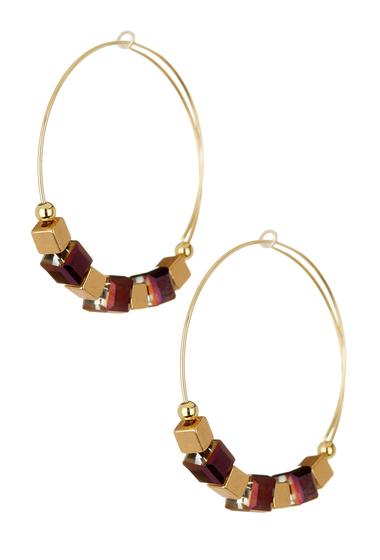 Bijuterii Femei Alex and Ani Trailblazer Beaded Hoop Earrings GOLD