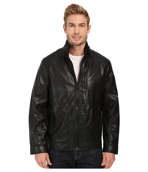 Imbracaminte Barbati Calvin Klein Smooth Faux Leather Jacket Black