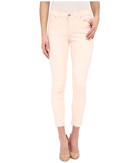 Imbracaminte Femei 7 For All Mankind The Ankle Skinny w Released Hem in Crystal Pink Crystal Pink
