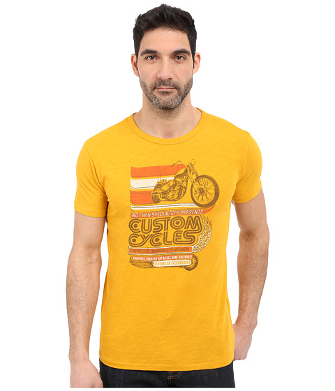 Imbracaminte Barbati Lucky Brand Custom Cycles Graphic Tee Golden Yellow