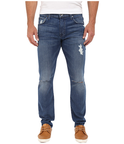 Imbracaminte Barbati 7 For All Mankind Paxtyn Skinny w Clean Pocket in Bandit (Destroyed) Bandit (Destroyed)