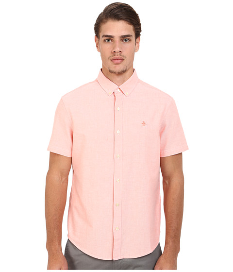 Imbracaminte Barbati Original Penguin Short Sleeve Core Oxford Fusion Coral