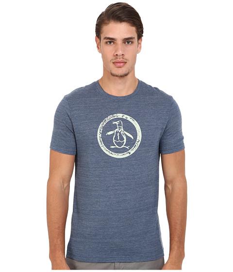 Imbracaminte Barbati Original Penguin Circle Logo Tee Dark Denim