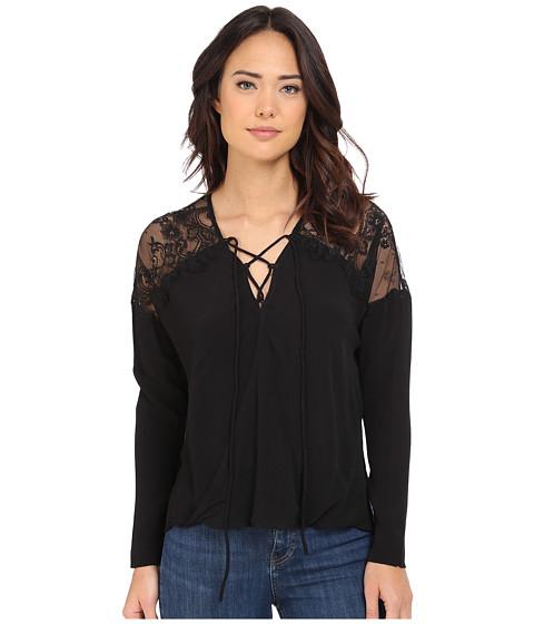 Imbracaminte Femei Brigitte Bailey Adley Front Tie Top with Lace Detail Black