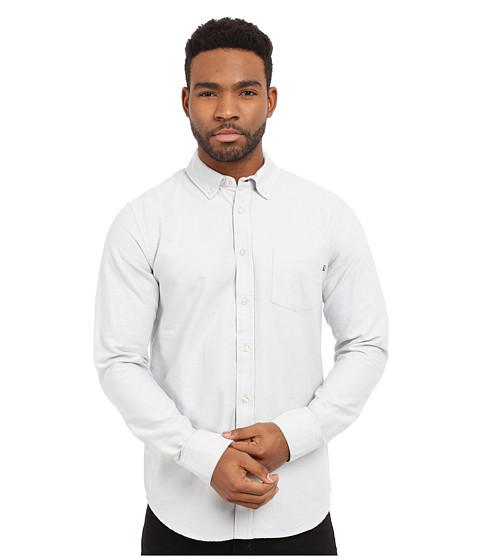 Imbracaminte Barbati Obey Dissent Trait Long Sleeve Woven Top Light Grey