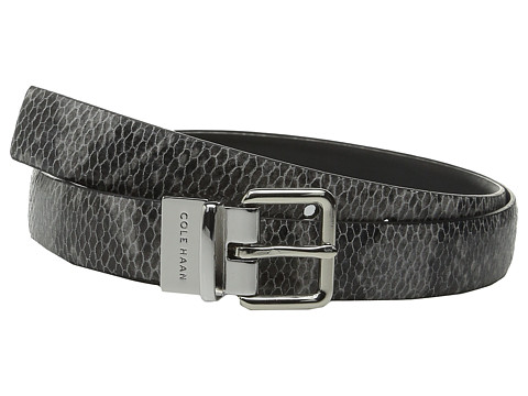 Accesorii Femei Cole Haan 25mm Reversible Printed Snake to Silk Calf Belt Black SnakeBlack
