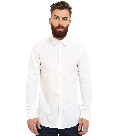 Imbracaminte Barbati Scotch Soda Classic Long Sleeve Shirt in Crispy Cotton White