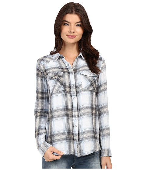 Imbracaminte Femei Brigitte Bailey Tania Plaid Shirt BlackLight Blue