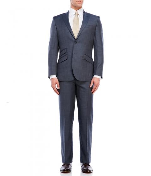 Imbracaminte Barbati English Laundry Peak Lapel Windowpane Suit Grey
