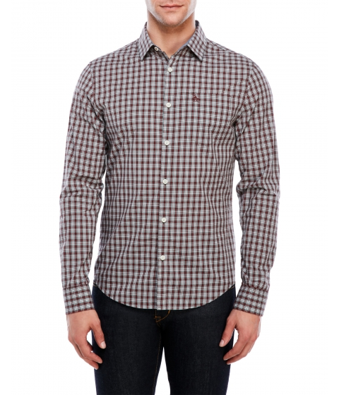 Imbracaminte Barbati Original Penguin Slim Fit Black Plaid Shirt Black