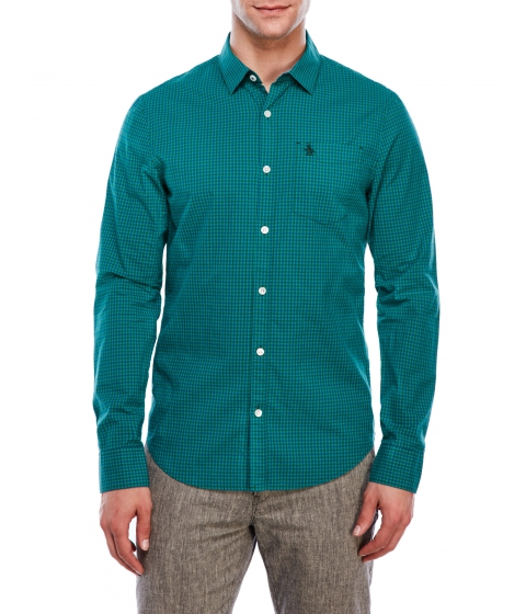 Imbracaminte Barbati Original Penguin Slim Fit Sycamore Mini Gingham Shirt Sycamore