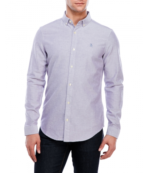 Imbracaminte Barbati Original Penguin Slim Fit Washed Oxford Shirt Purple