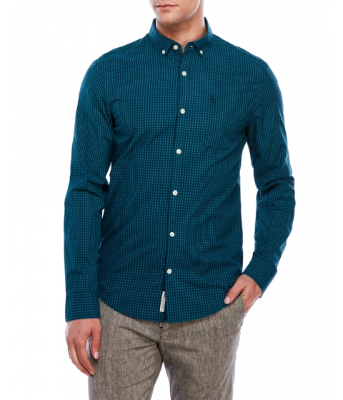 Imbracaminte Barbati Original Penguin Slim Fit Gingham Shirt Everglade