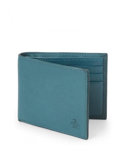 Genti Barbati Original Penguin Bi-Fold Wallet Blue