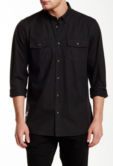 Imbracaminte Barbati WeSC Ivo Long Sleeve Relaxed Fit Shirt SPRING BLACK