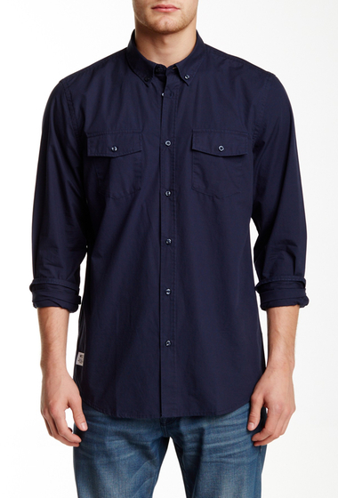 Imbracaminte Barbati WeSC Ivo Long Sleeve Relaxed Fit Shirt NAVY BLAZER