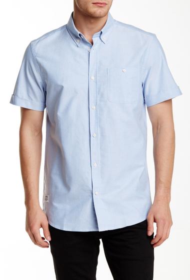 Imbracaminte Barbati WeSC Oden Short Sleeve Relaxed Fit Shirt POLAR BLUE