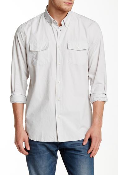 Imbracaminte Barbati WeSC Ive Long Sleeve Relaxed Fit Shirt MOON BEAM