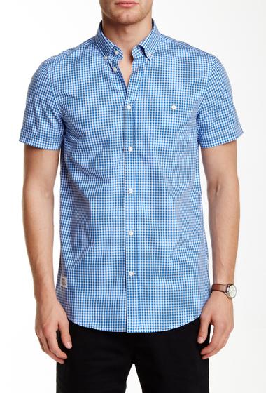 Imbracaminte Barbati WeSC Gert Slim Fit Check Print Shirt PROCESS BLUE