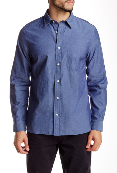 Imbracaminte Barbati Jack Spade Wakefield Pindot Long Sleeve Regular Fit Shirt BLUE