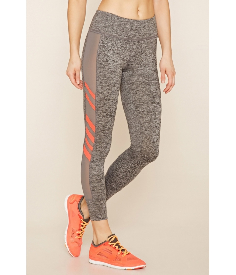 Imbracaminte Femei Forever21 Active Mesh-Paneled Leggings Charcoalsunset