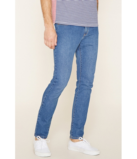 Imbracaminte Barbati Forever21 Slim-Fit Jeans Light denim