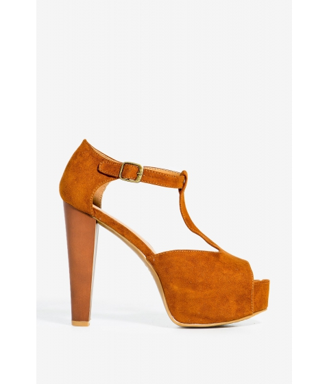 Incaltaminte Femei CheapChic Intuition-30m Lovely Days Platform Cognac