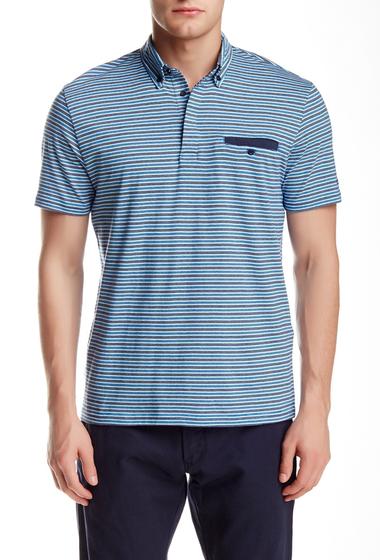 Imbracaminte Barbati Ben Sherman Short Sleeve Jersey Multi-Stripe Polo FRENCH BLUE