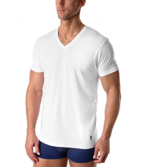 Imbracaminte Barbati US Polo Assn 3 Pack V-Neck Tees White