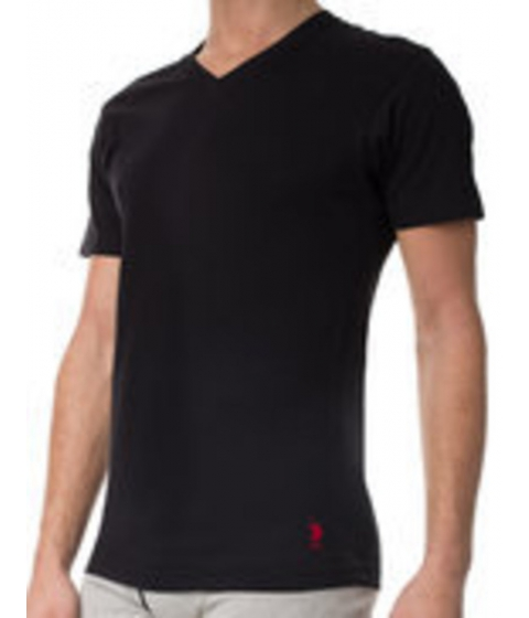 Imbracaminte Barbati US Polo Assn 3 Pack V-Neck Tees Black