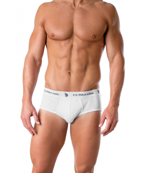 Imbracaminte Barbati US Polo Assn 4 Pack Contour Brief White