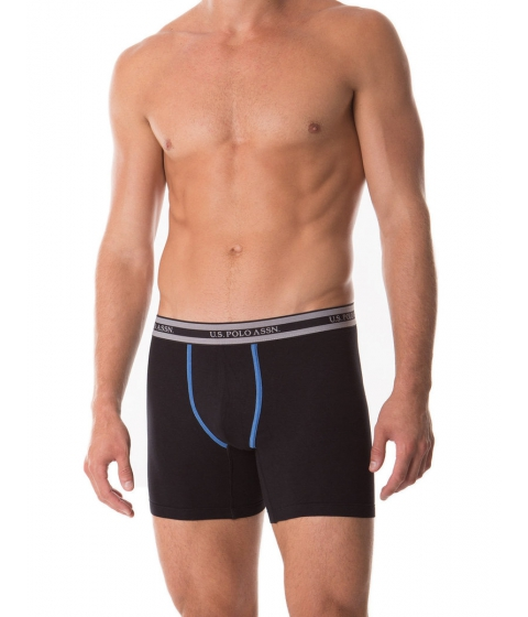 Imbracaminte Barbati US Polo Assn 3 Pack Stretch Boxer Brief Assorted 2