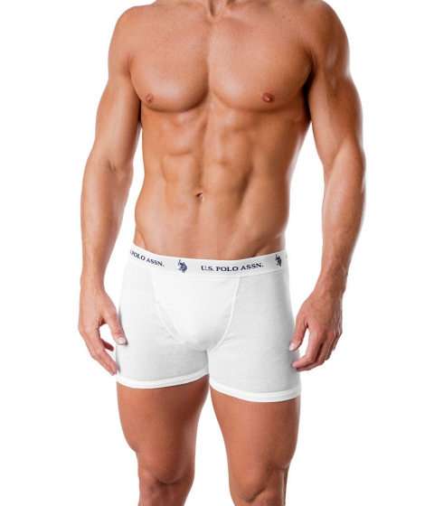Imbracaminte Barbati US Polo Assn 3 Pack Boxer Brief White