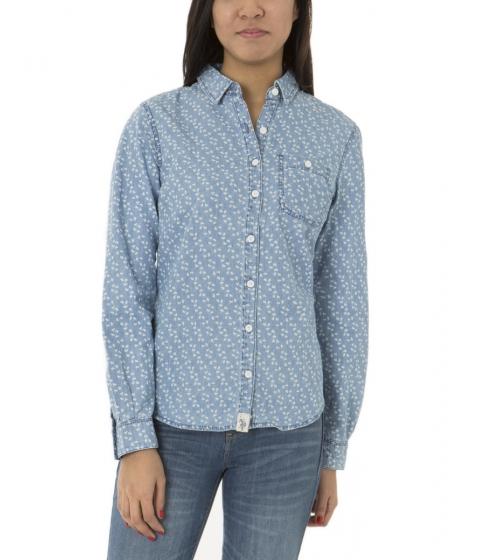 Imbracaminte Femei US Polo Assn DENIM PRINT SHIRT Blue