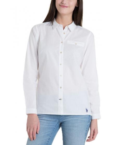 Imbracaminte Femei US Polo Assn Poplin Shirt WhiteNavy