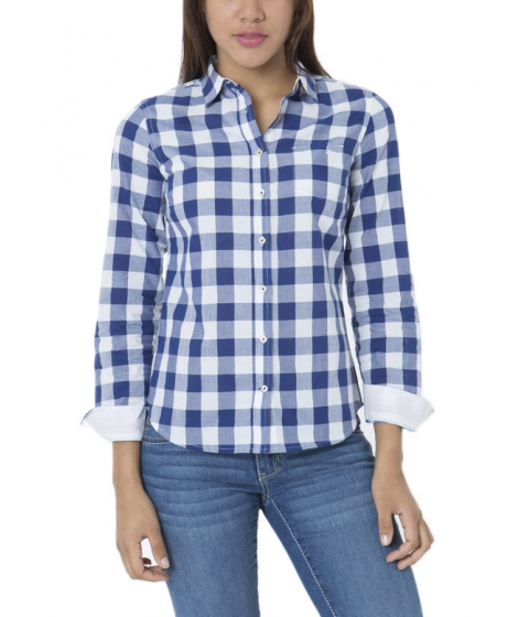 Imbracaminte Femei US Polo Assn BUFFALO PLAID SHIRT BLUE DEPTHS