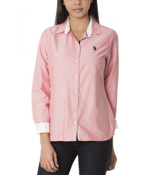 Imbracaminte Femei US Polo Assn CLASSIC SOLID WOVEN HIBISCUS