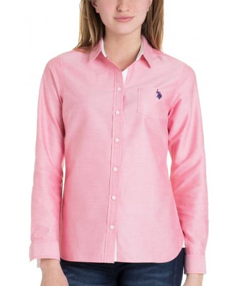 Imbracaminte Femei US Polo Assn Solid Pocket Oxford HIBISCUS